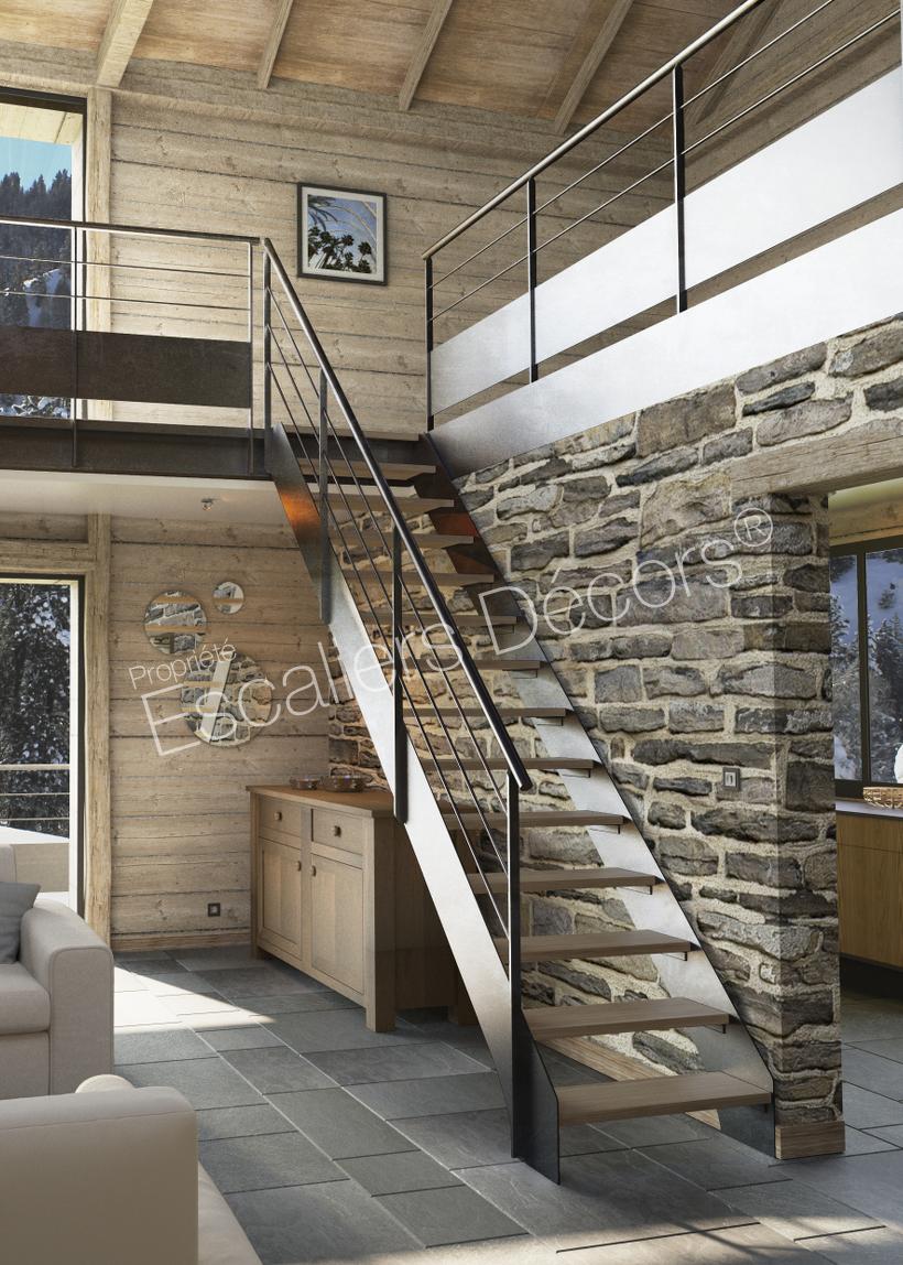 Escalier droit ou 1/4 tournant Contemporain - Escaliers Décors®