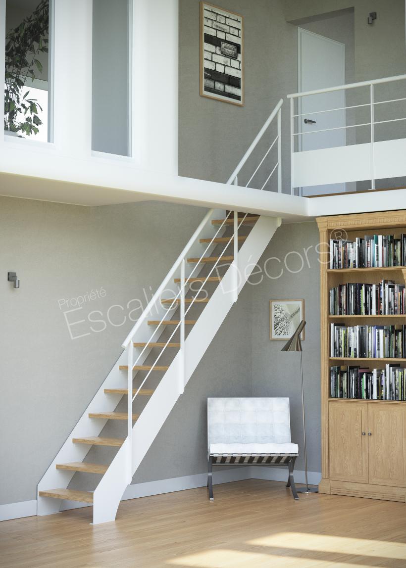 Photo ST2 - ESCA\'DROIT® Contemporain : escalier droit de Meunier en ...