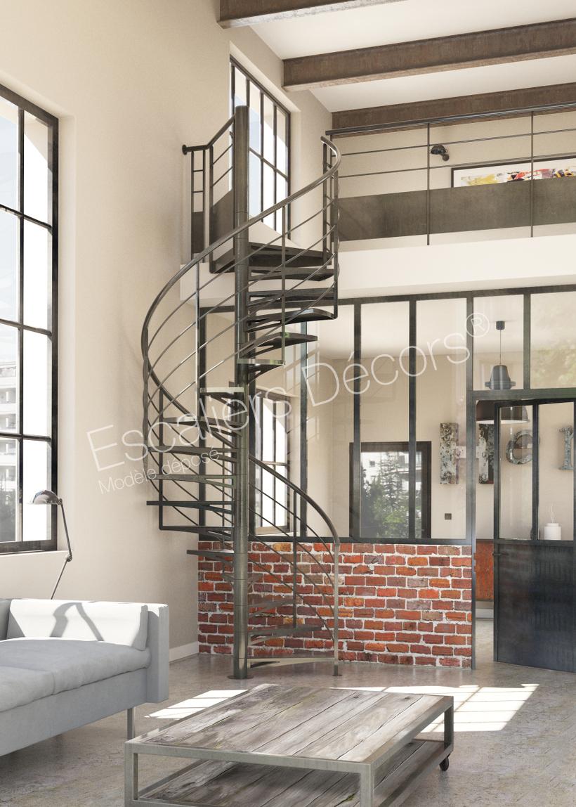 Escalier colimaçon en Kit style Loft - Escaliers Décors®
