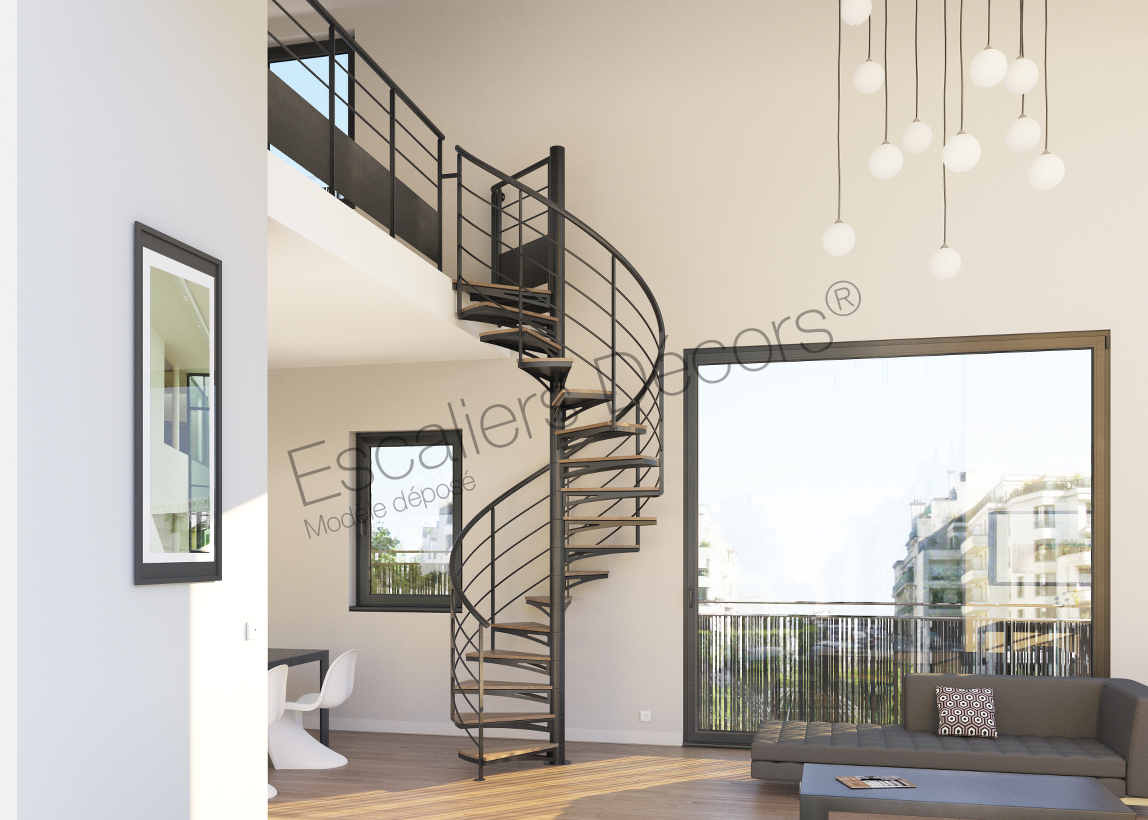 escalier colima on en kit style loft escaliers d cors. Black Bedroom Furniture Sets. Home Design Ideas