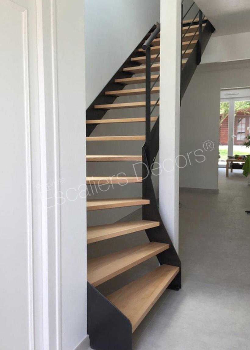 Photo ST1 - ESCA\'DROIT® Contemporain : escalier 1/4 tournant ...