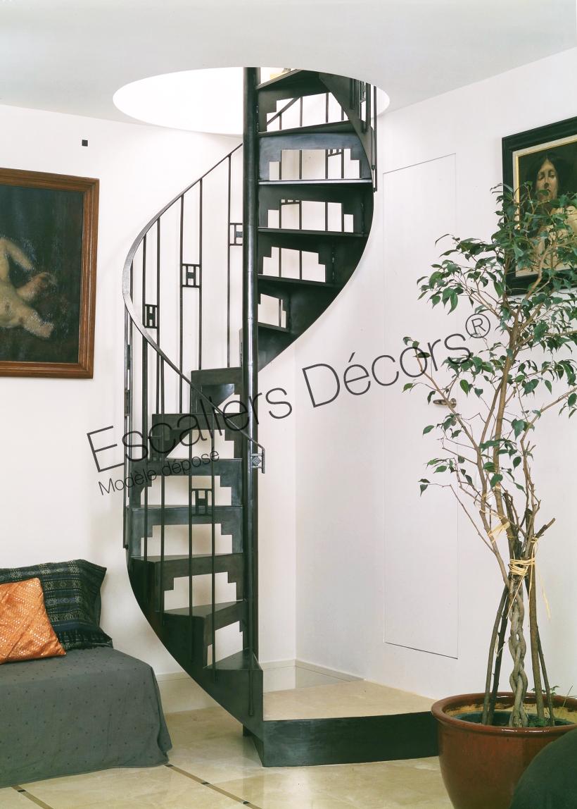 Photo DH3 - SPIR\'DÉCO® Art Déco. Escalier d\'intérieur ...
