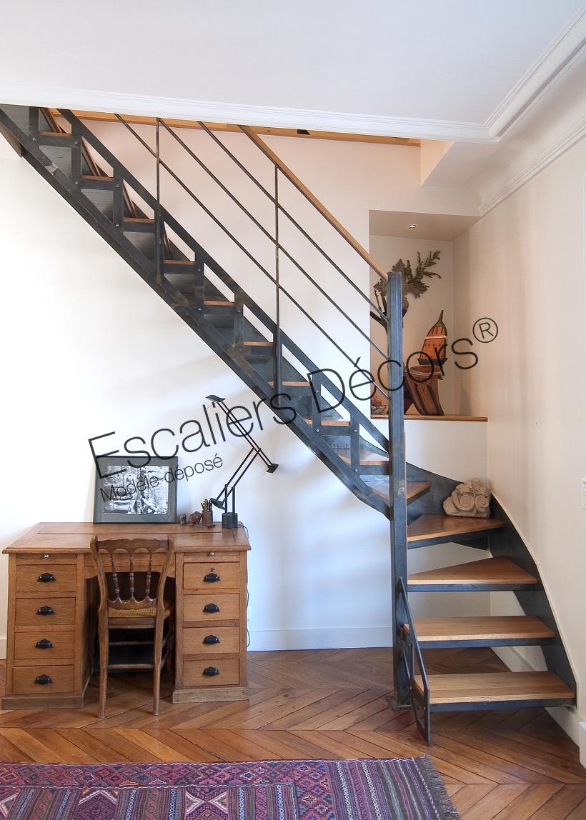 Photo DT29 - ESCA\'DROIT® 1/4 tournant Intermédiaire. Escalier d ...