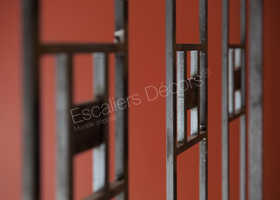 escalier art d co escaliers d cors. Black Bedroom Furniture Sets. Home Design Ideas