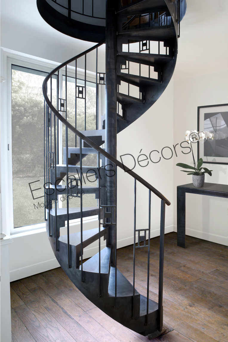 escalier art d co escaliers d cors. Black Bedroom Furniture Sets. Home Design Ideas