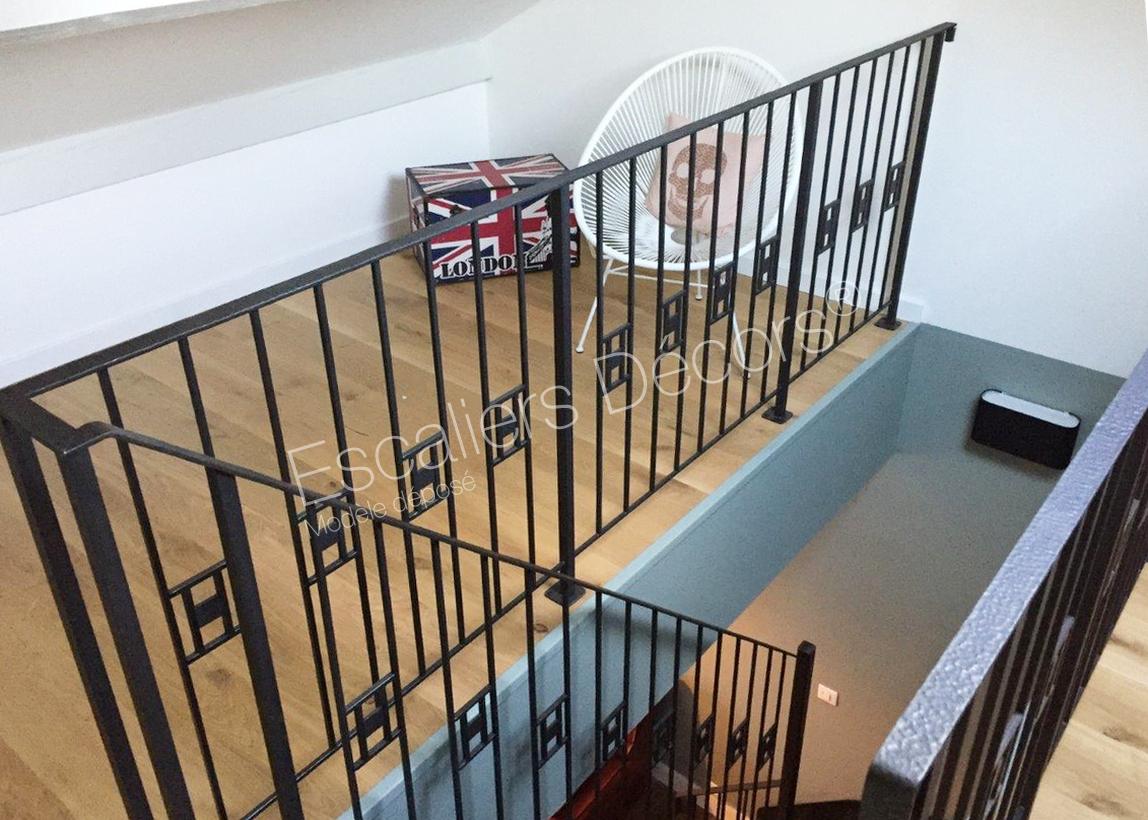 Garde Corps Haut Escalier escalier art déco - escaliers décors®