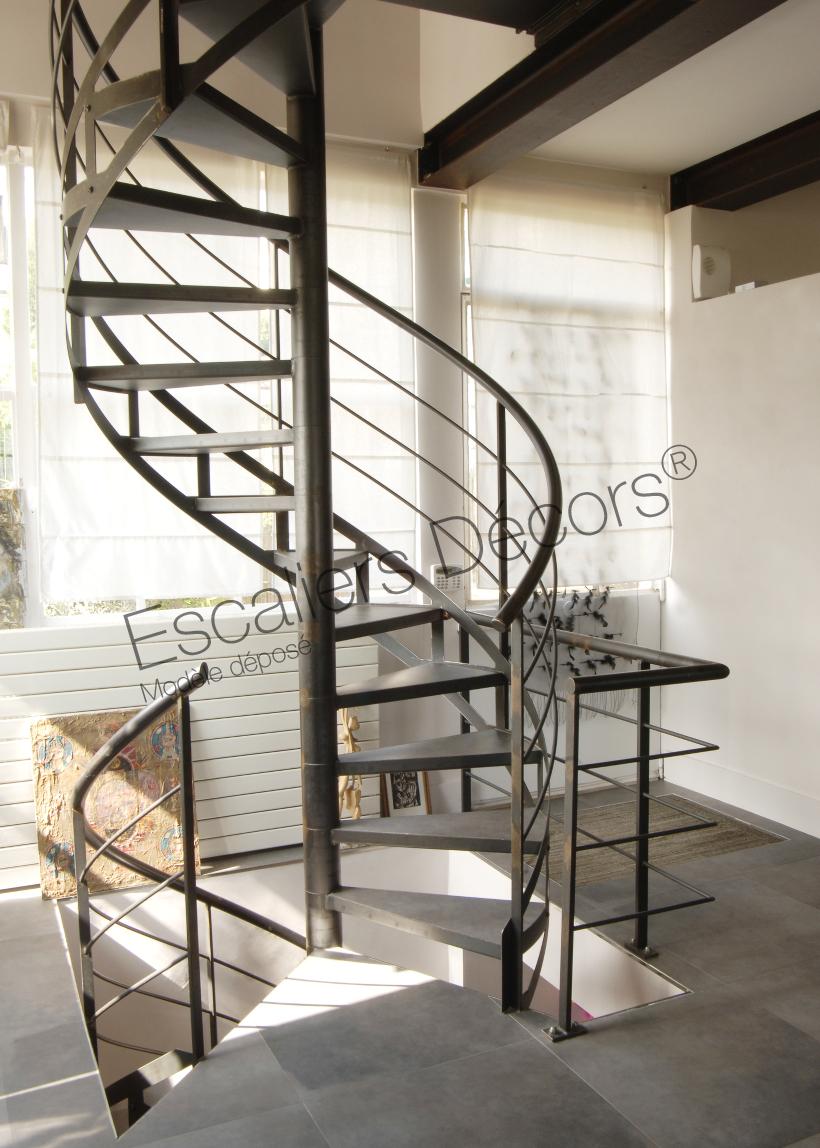 Escalier Interieur Beton Design escalier métal sur mesure - escaliers décors®