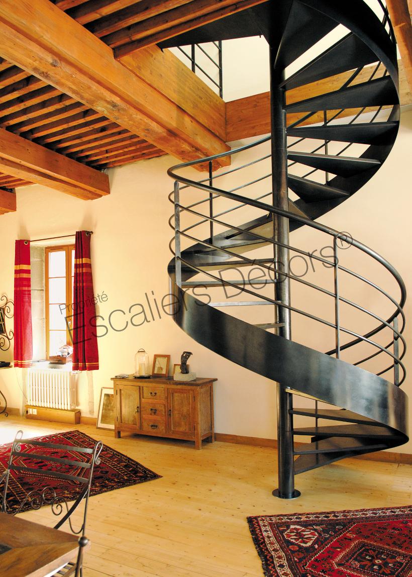 Escalier Dans Maison Ancienne photo dh42 - marches caisson nanoacoustic® tôle lisse sur
