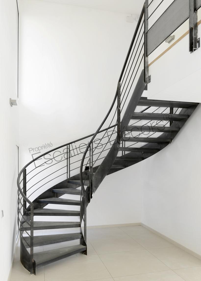 Escalier Interieur Maison Moderne escalier balancé - escaliers décors®