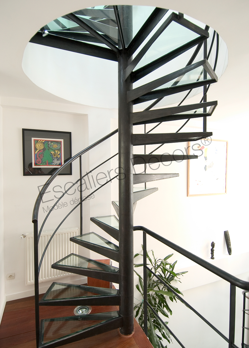 Photo DH30 - SPIR\'DÉCO® Dalle de Verre. Escaliers d\'intérieur ...