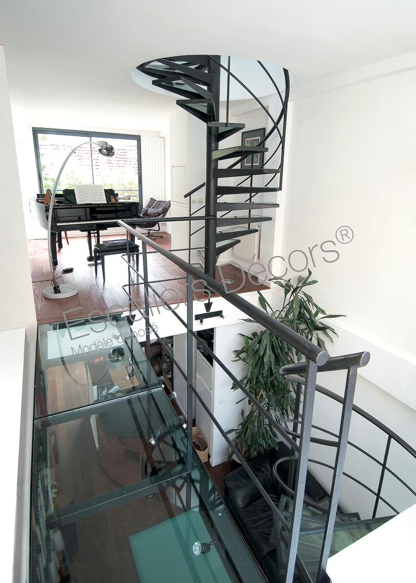 Escalier Interieur Maison Moderne photo dh30 - spir'dÉco® dalle de verre. escaliers d
