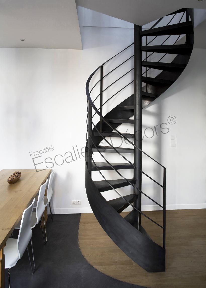 Photo DH50 - SPIR\'DÉCO® Standing. Escalier d\'intérieur métallique ...