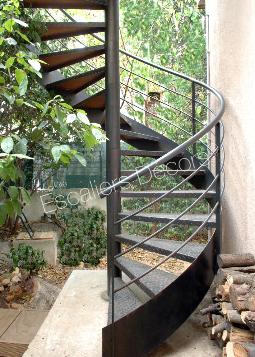 Photo DH54 - SPIR'DÉCO® Larmée. Escalier hélicoïdal ...