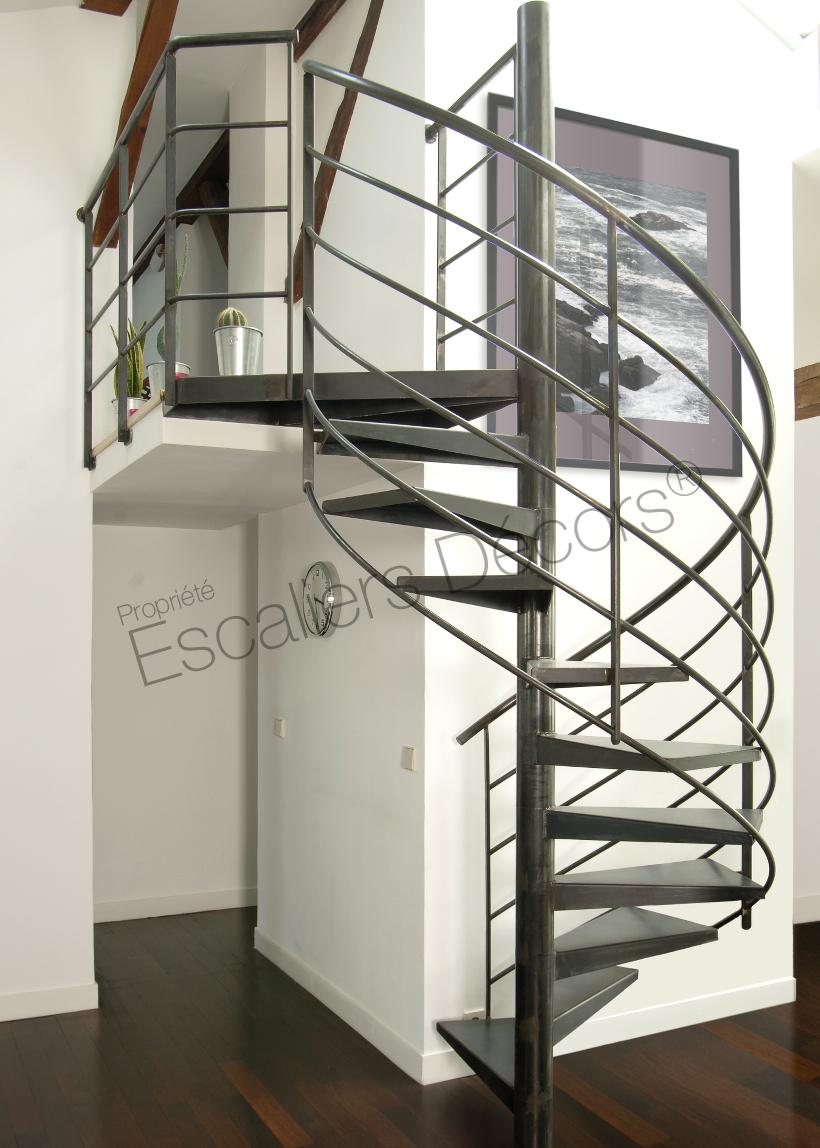 Photo DH56 - SPIR\'DÉCO® Standing. Escalier hélicoïdal ...