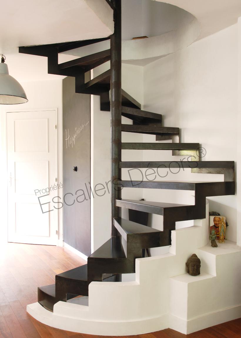 Photo DH57 - SPIR\'DÉCO® D\'Angle. Escalier d\'intérieur hélicoïdal sur ...