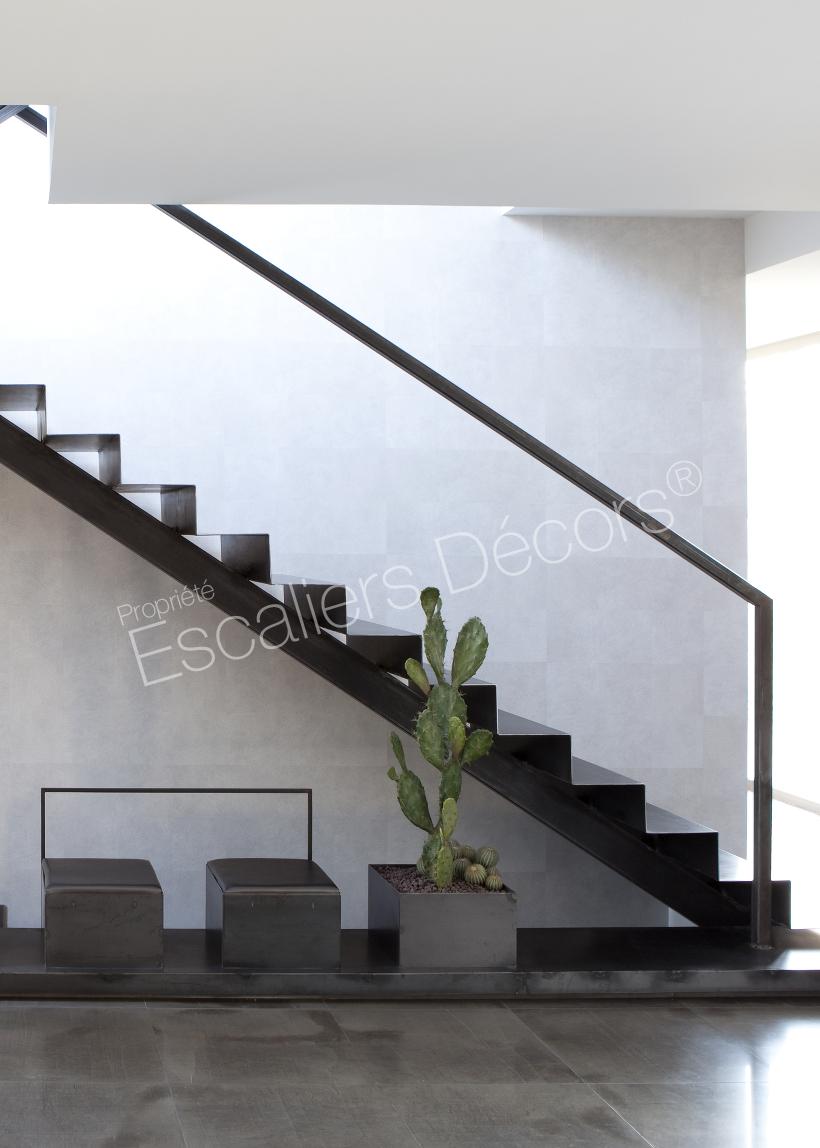 Photo DT74 - ESCA\'DROIT® sur Limon Central. Escalier métallique d ...