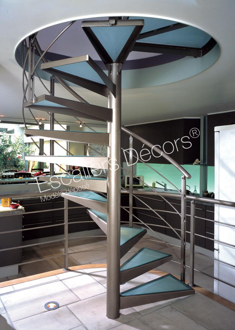 Photo DH21 - SPIR\'DÉCO® Standing. Escalier intérieur hélicoïdal ...