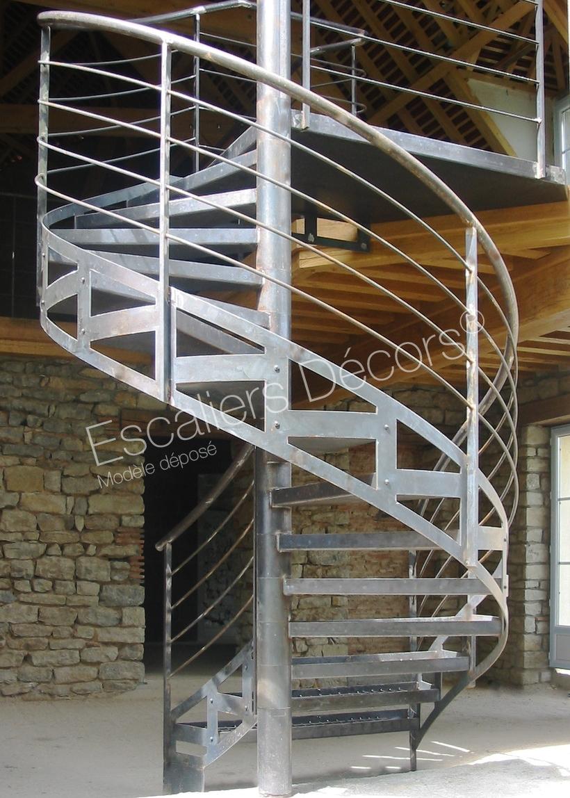 Photo DH33 - SPIR\'DÉCO® Mixte. Escalier extérieur ...