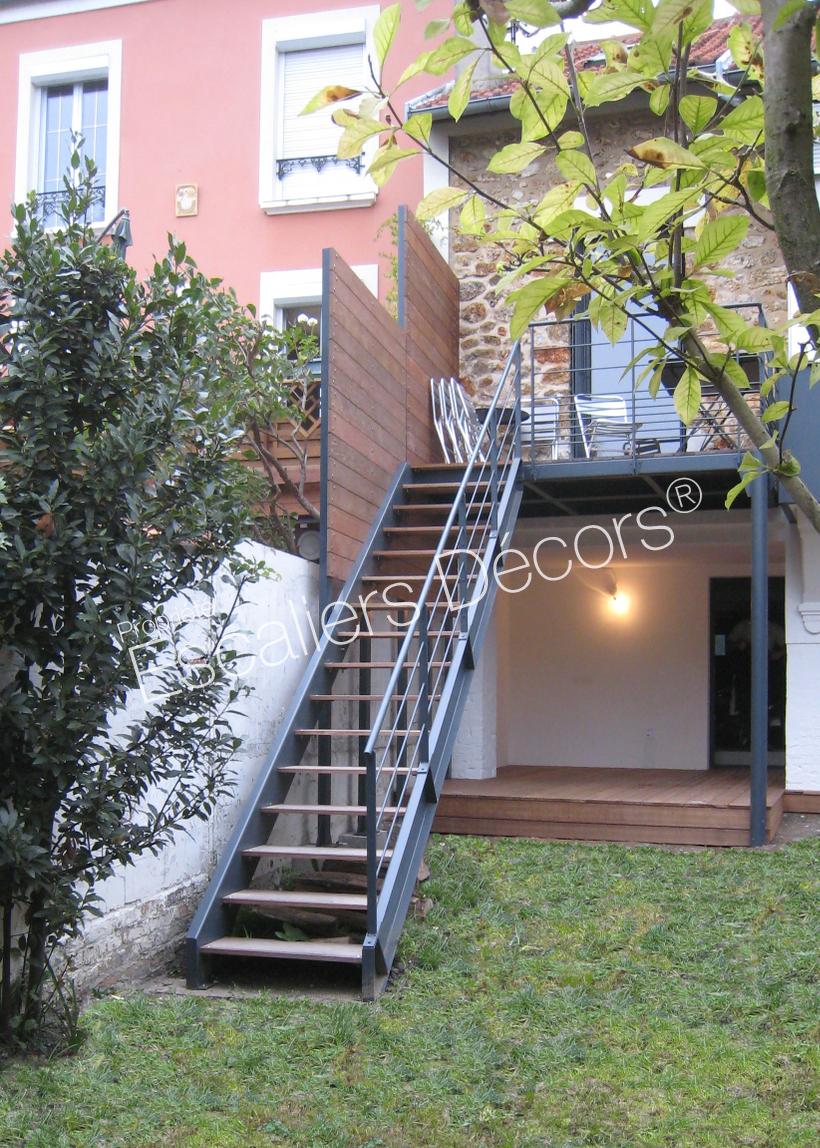 Ossature Métallique Pour Terrasse Bois escalier extérieur - escaliers décors®