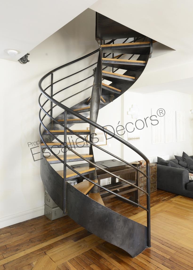 Photo DH129 - SPIR\'DÉCO® Flamme. Escalier d\'intérieur design sur ...