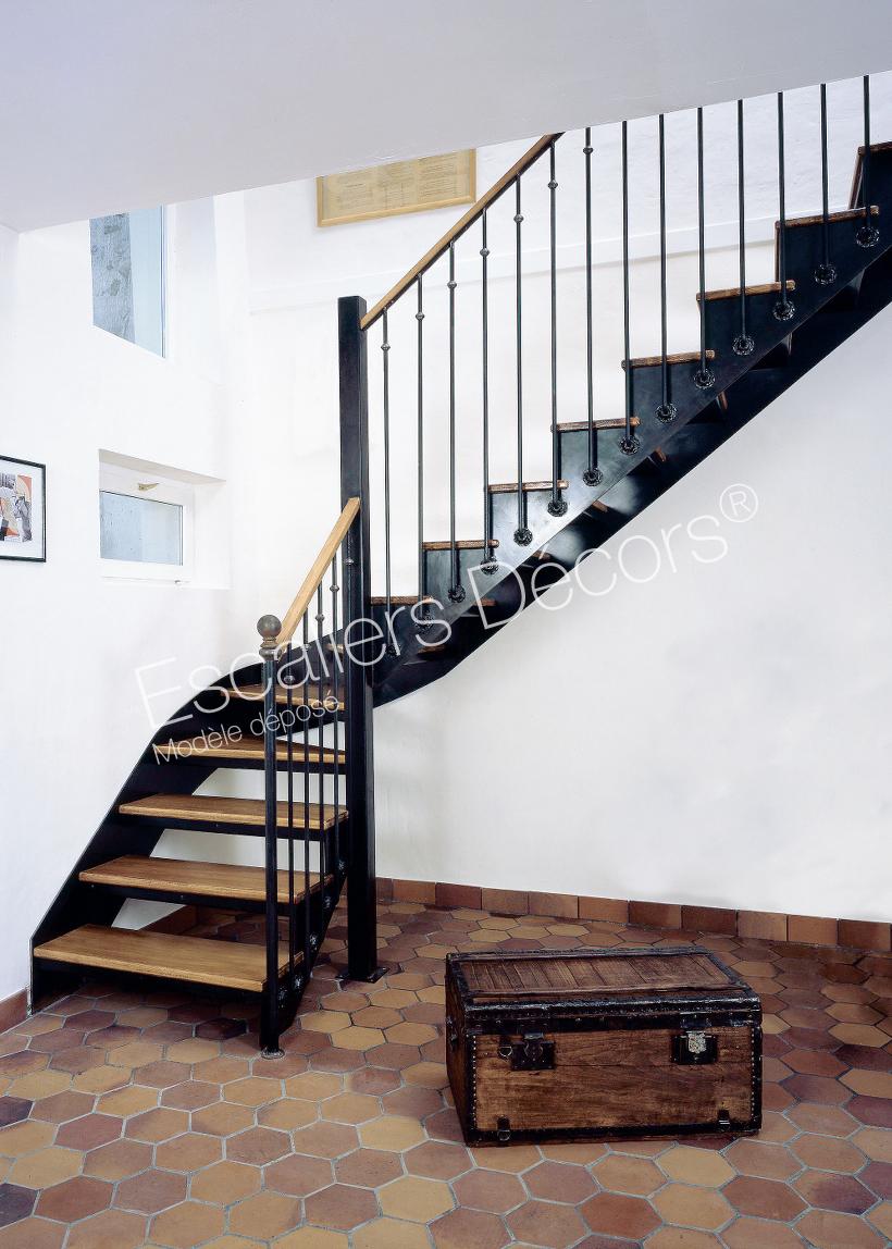 Escalier Bois Metal Noir escalier bistrot - escaliers décors®