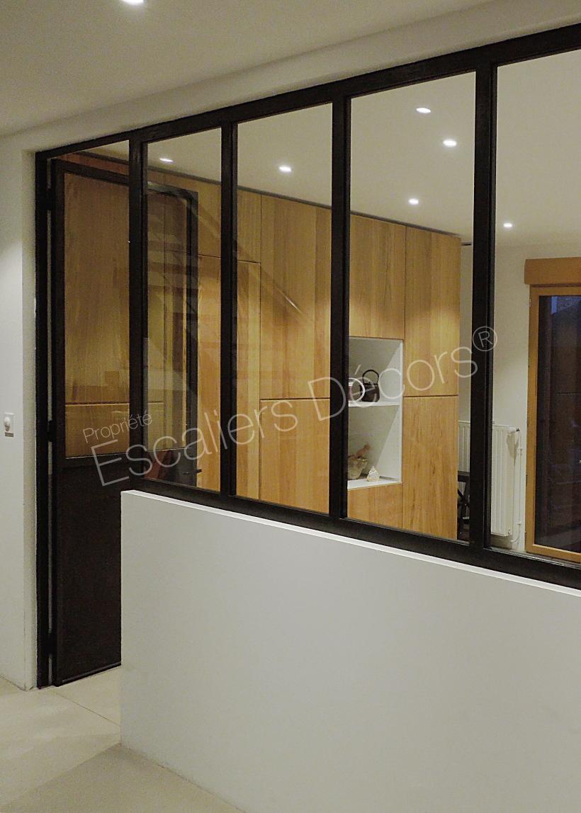 Double Porte Verriere Interieure verrière d'atelier - escaliers décors®
