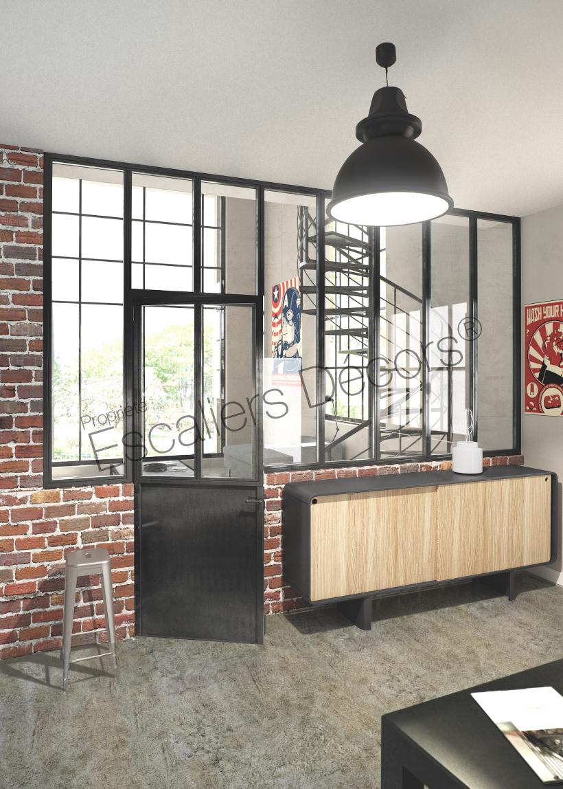 Verrière Acier Type Atelier verrière d'atelier - escaliers décors®