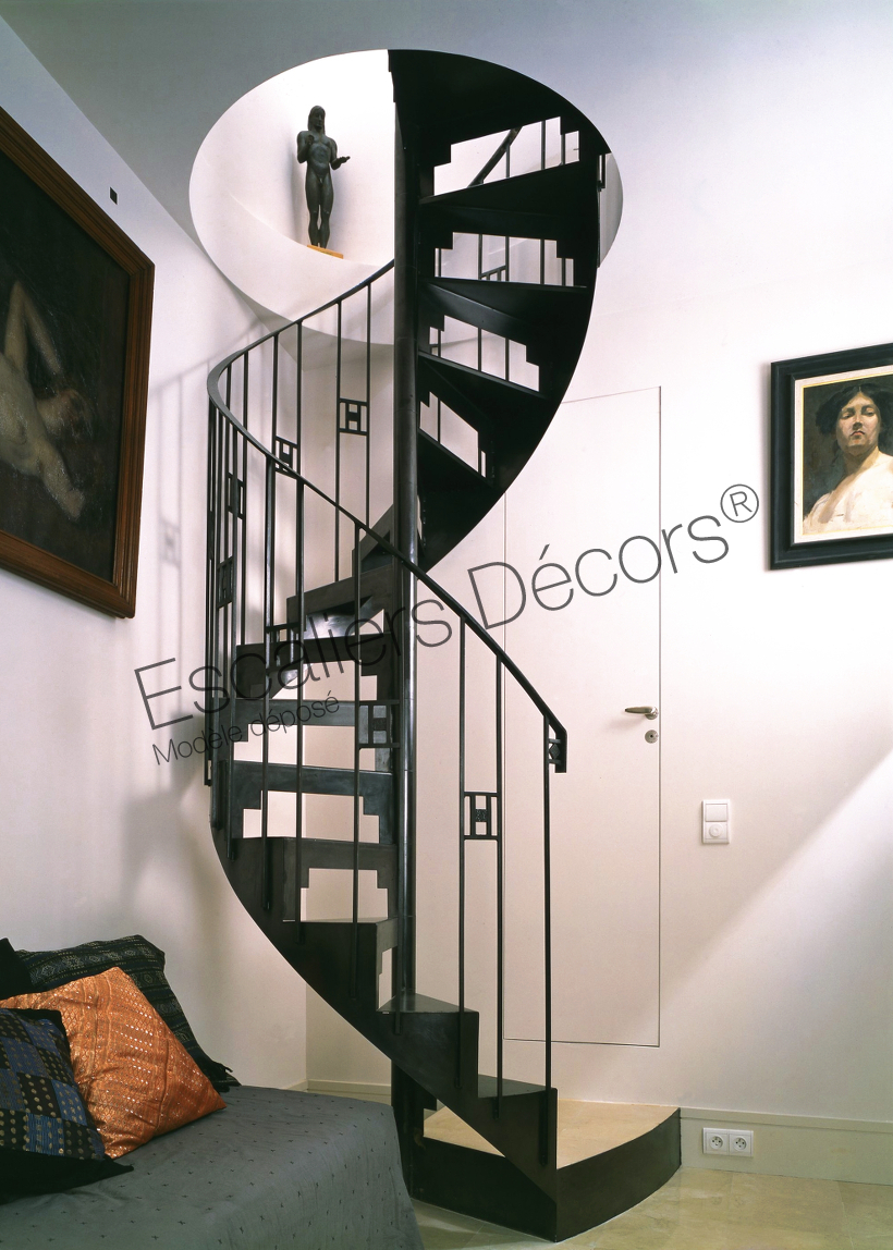 escalier h lico dal escaliers d cors. Black Bedroom Furniture Sets. Home Design Ideas