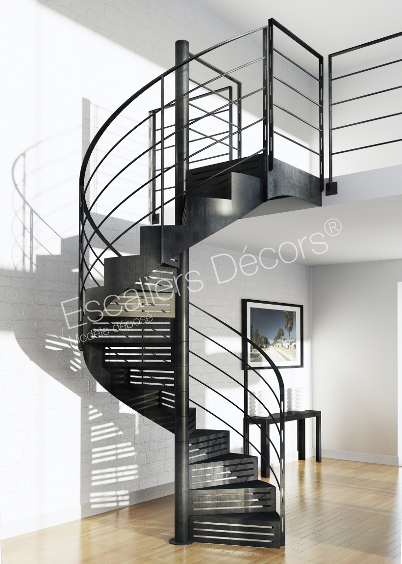 Photo Dh113 Spir Deco Graphique Escalier D Interieur Metallique