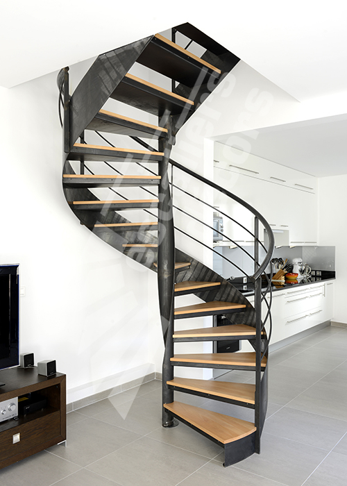 Photo DH109 - SPIR\'DÉCO® Flamme Mixte. Escalier d\'intérieur ...