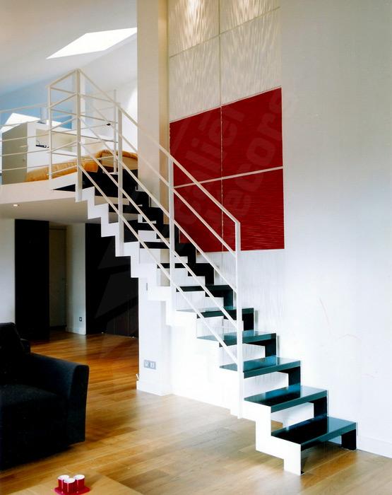 Photo DT25 - ESCA\'DROIT® avec Palier d\'Arrivée. Escalier métallique ...