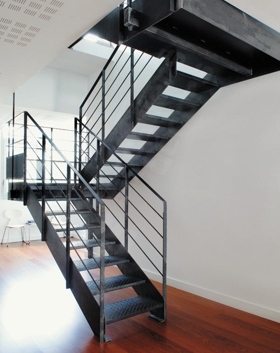 escalier exterieur 2 quart tournant