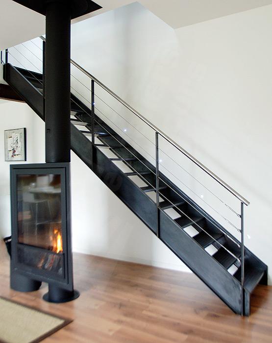 Photo DT38 - ESCA\'DROIT® 1/4 Tournant Haut. Escalier métallique d ...
