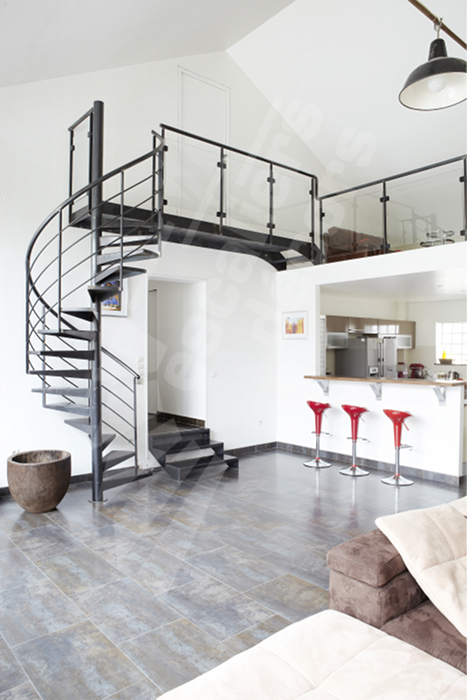 Beautiful escalier moderne interieur photos lalawgroup for Interieur contemporain