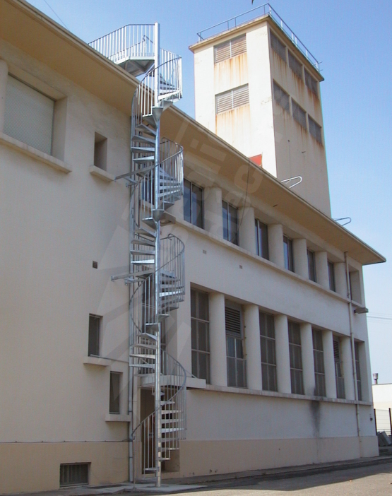 escalier helicoidal grande hauteur