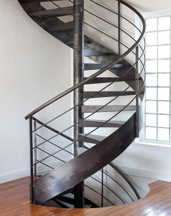 Escalier colima on contemporain escaliers d cors - Escalier colimacon beton ...