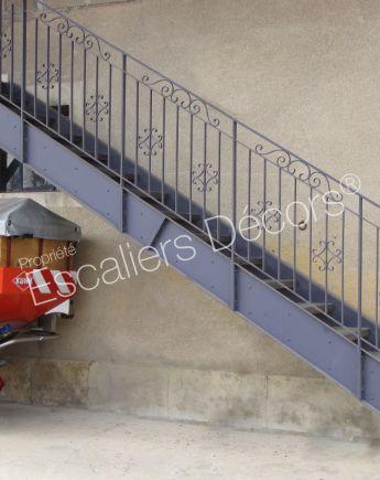 Escalier Droit En Acier Escaliers Decors