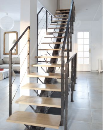 escalier interieur droit